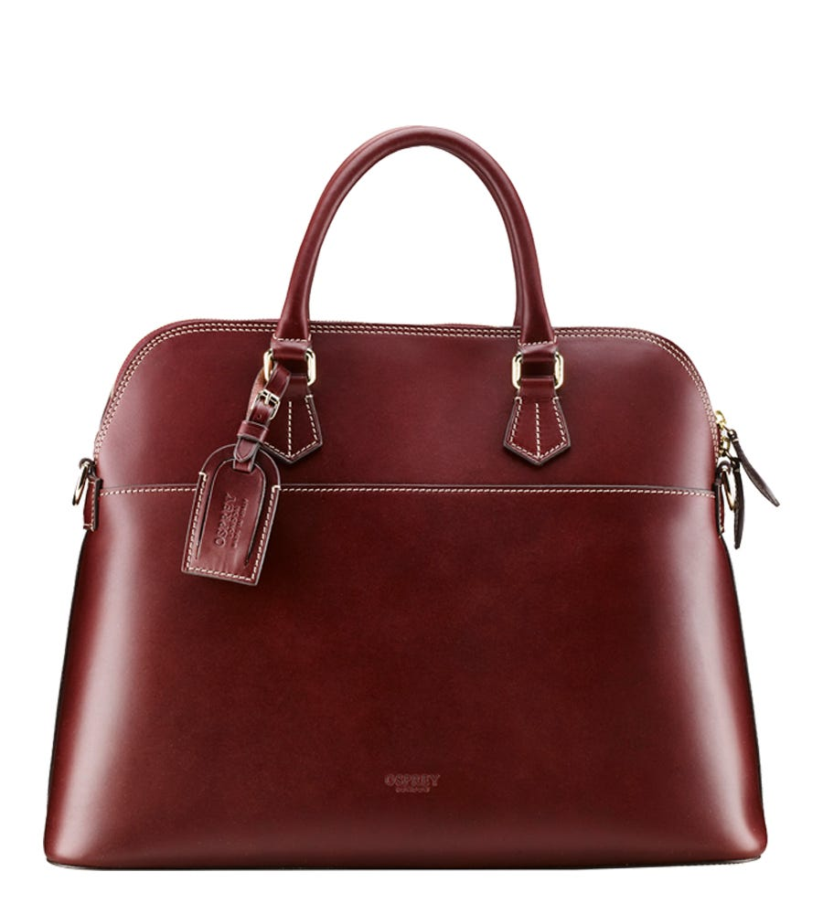 An image of The Epsom Bug Large Italian Leather Grab