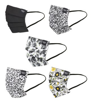 Face Covering Pack of Five in black | OSPREY LONDON
