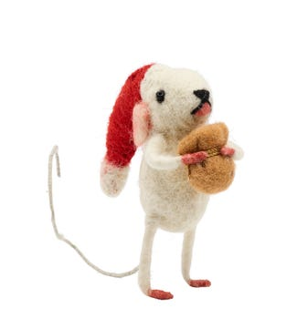 Santa Mouse in Felted Wool | OSPREY LONDON