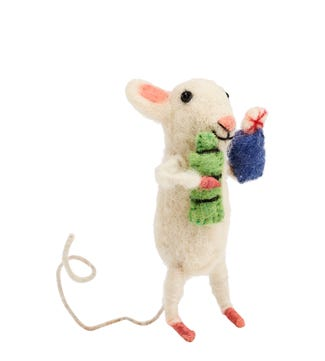 Gin & Tonic Mouse in Felted Wool | OSPREY LONDON
