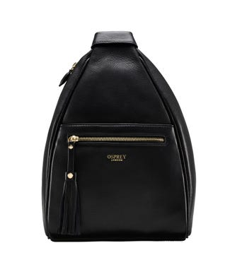 The Hampstead Leather Rucksack in black | OSPREY LONDON