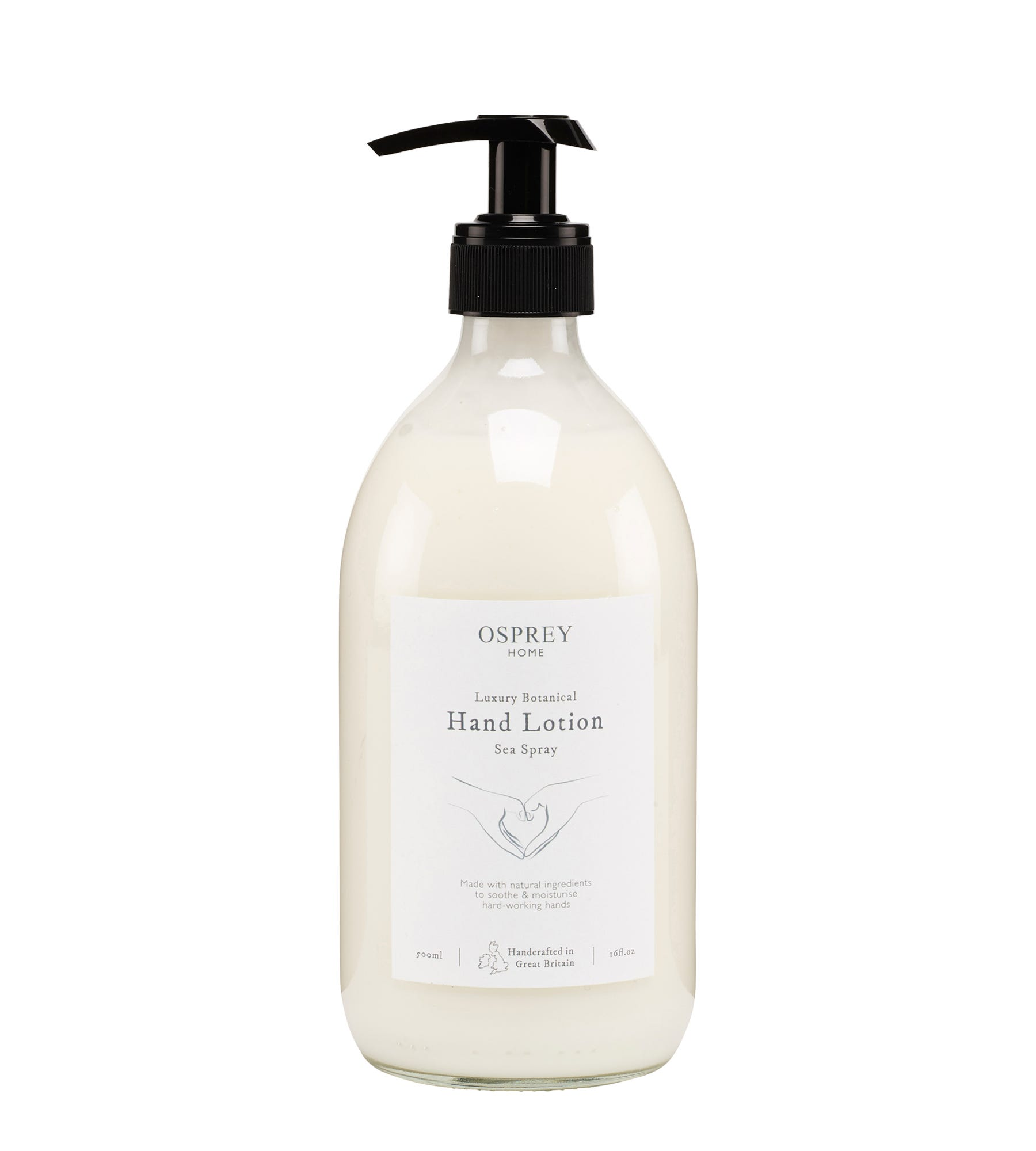 An image of Luxury Botanical Hand Lotion 500ml Glass