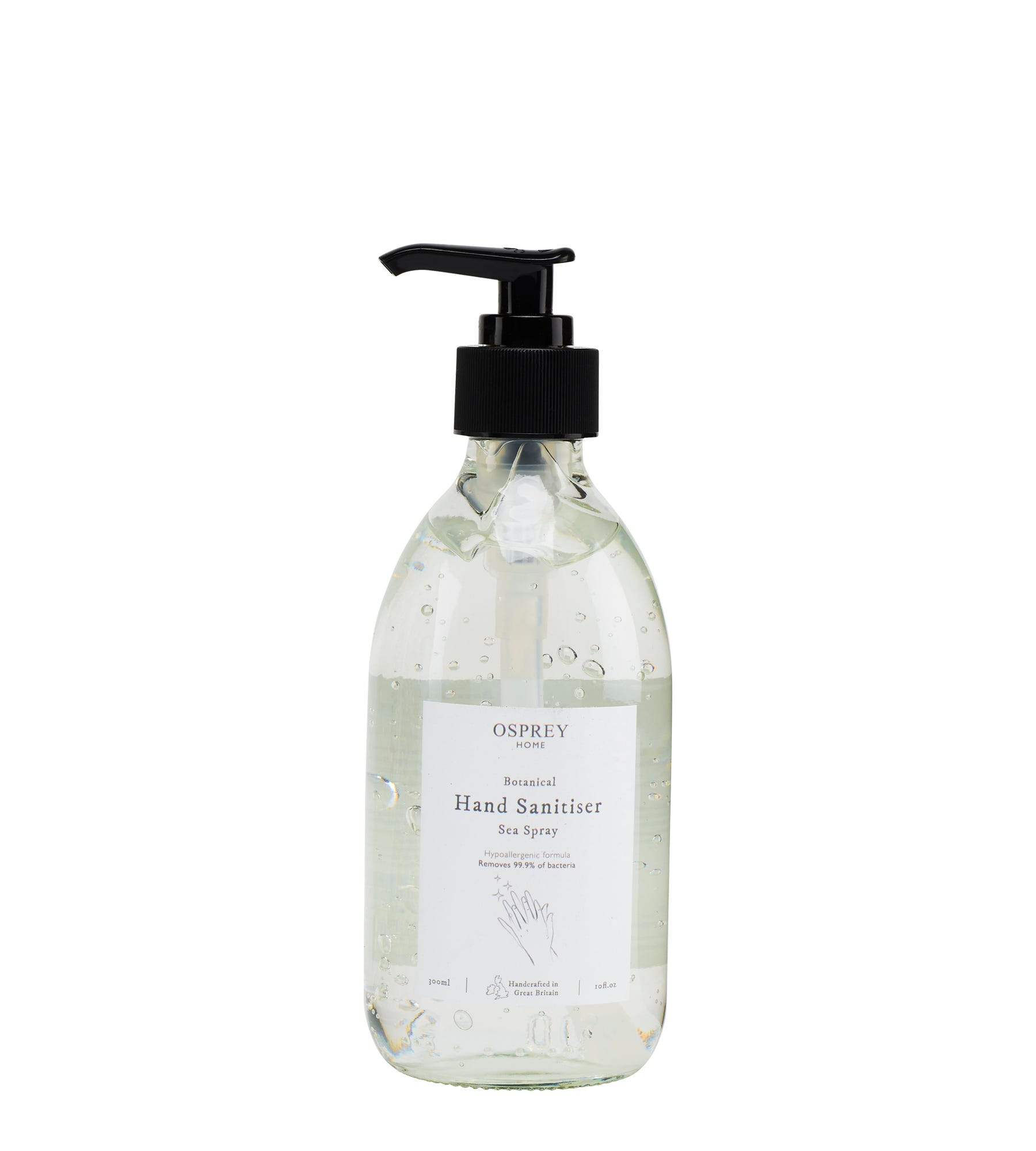 An image of Botanical Hand Sanitiser 300ml Glass