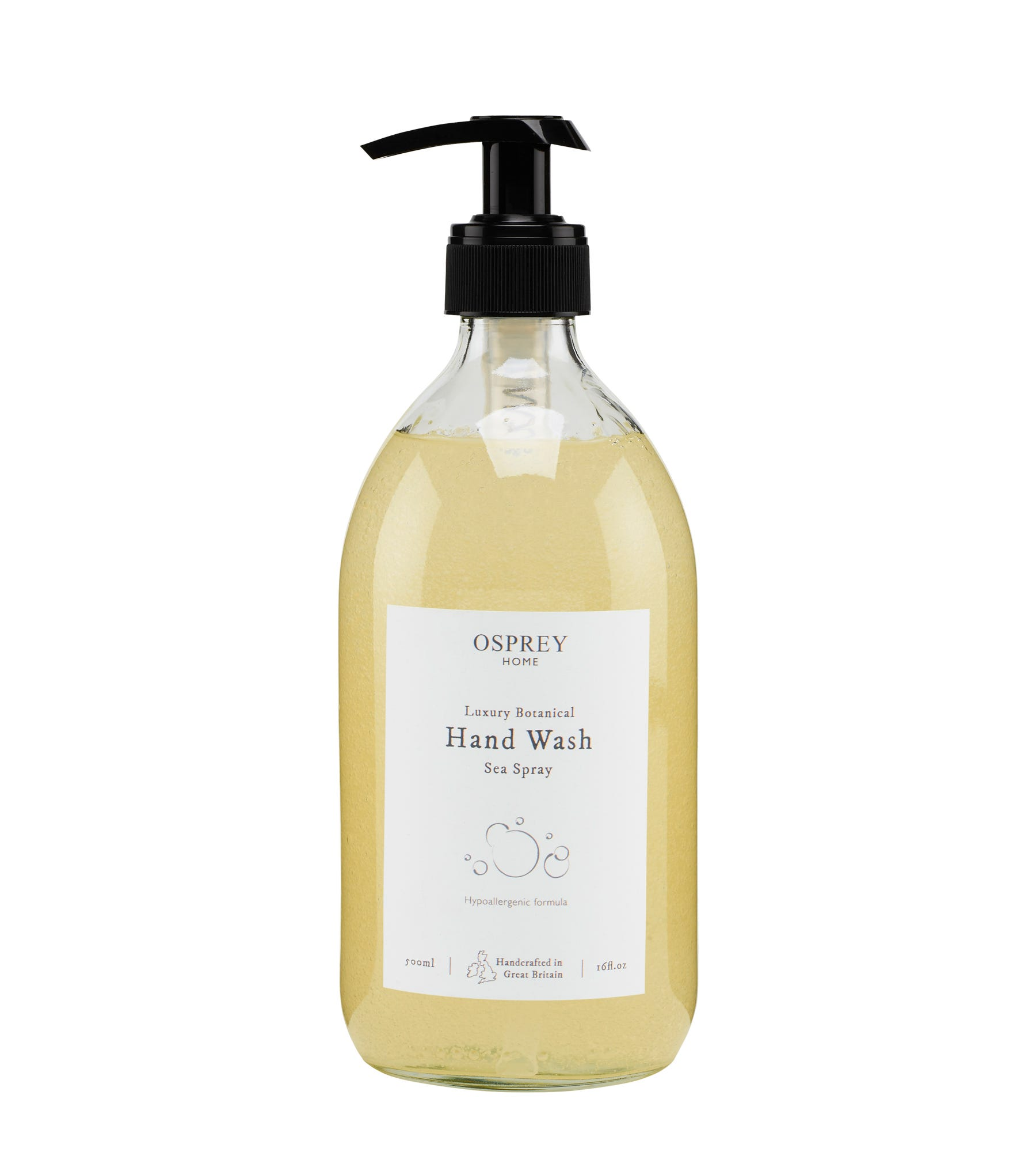 An image of Luxury Botanical Hand Wash 500ml Glass