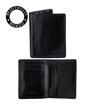 The Hawksmoor Leather Cardholder in black | OSPREY LONDON