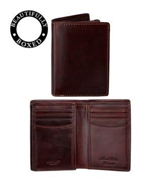 The Hawksmoor Leather N/S Billfold Wallet in chestnut | OSPREY LONDON
