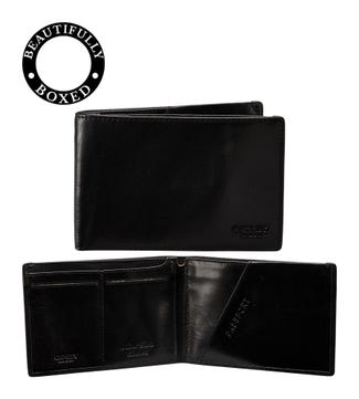 The Hawksmoor Leather Travel Wallet in black | OSPREY LONDON