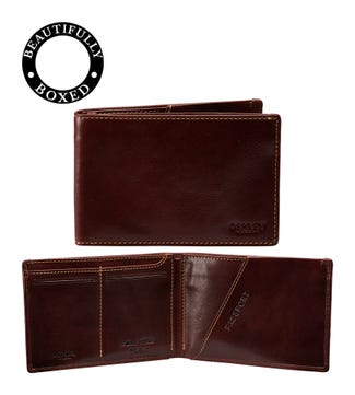 The Hawksmoor Leather Travel Wallet in chestnut brown | OSPREY LONDON