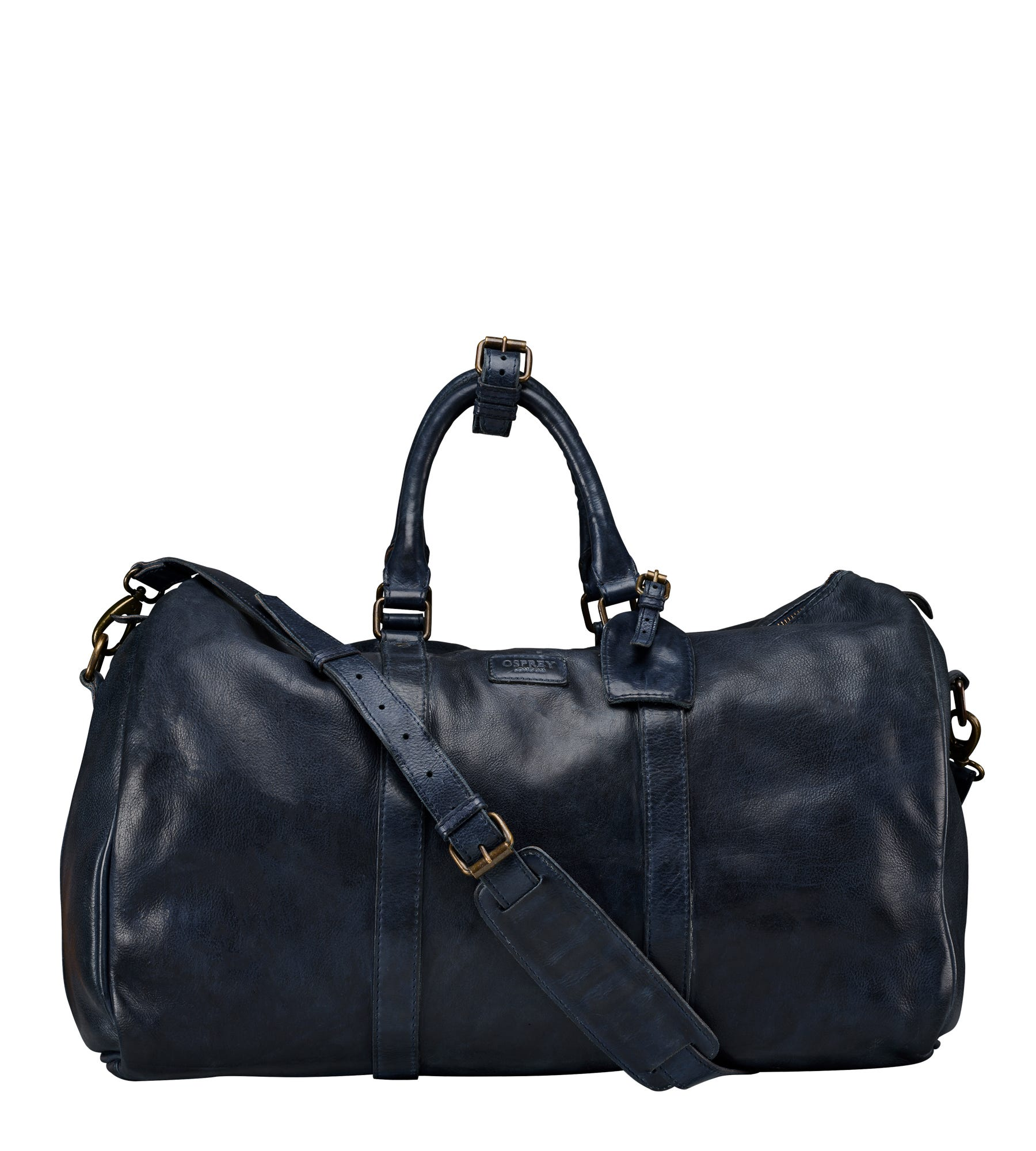 An image of The Hazelden Leather Weekender