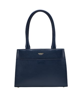 The Heidi Leather Grab in navy blue | OSPREY LONDON