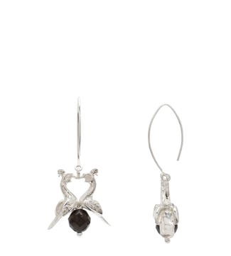 The Kissing Peacocks Sterling Silver Earrings | OSPREY LONDON