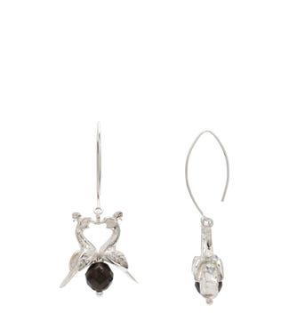 The Kissing Peacocks Sterling Silver Earrings | OSPREY LONDON