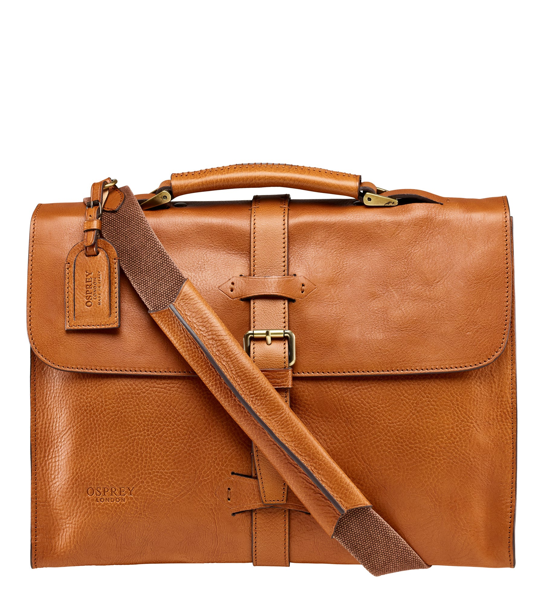 An image of The Knighton Italian Leather Briefcase