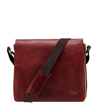 The Large Smithy Leather Messenger in cognac | OSPREY LONDON