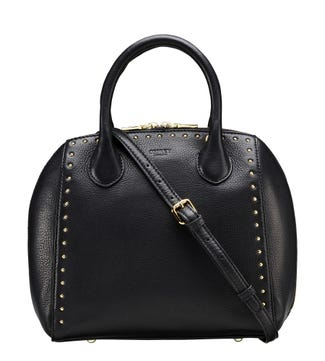 The Lennox Leather Grab in black | OSPREY LONDON
