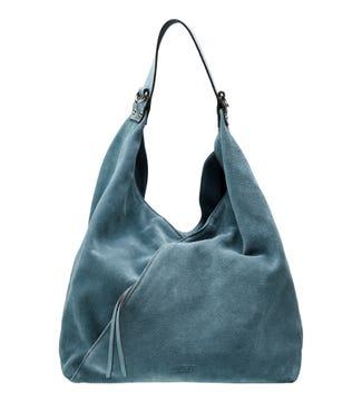 The Liberty Italian Suede Hobo in lagoon | OSPREY LONDON