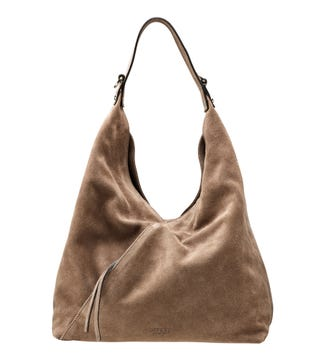 The Liberty Italian Suede Hobo in malt | OSPREY LONDON