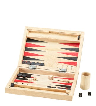 Natural Wooden Backgammon | OSPREY LONDON