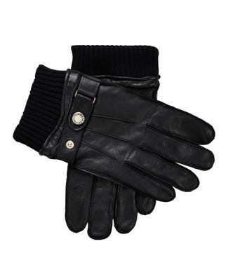 The Mansel Leather Gloves in black | OSPREY LONDON