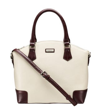 The Marlow Leather Grab in cream | OSPREY LONDON