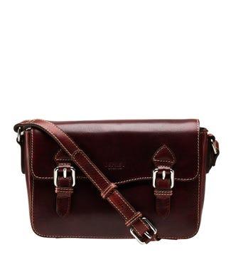 The Medium Boxer Leather Satchel in cognac | OSPREY LONDON