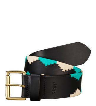 The Mendoza Leather Belt in black | OSPREY LONDON