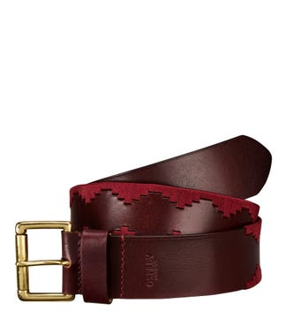 The Mendoza Leather Belt in cognac | OSPREY LONDON