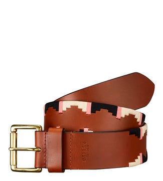 The Mendoza Leather Belt in tan | OSPREY LONDON