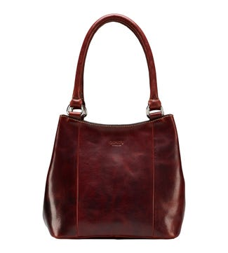 The Narissa Leather Hobo in cognac | OSPREY LONDON
