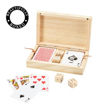 Natural Wooden Cards & Dice | OSPREY LONDON