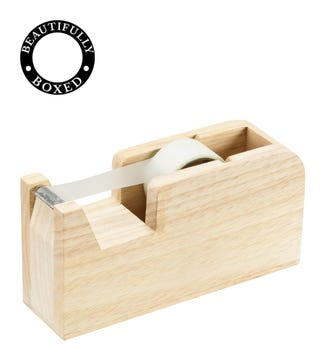 Natural Wooden Tape Dispenser | OSPREY LONDON