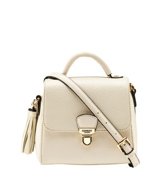 The Mini Phoebe Leather Grab in dove grey | OSPREY LONDON