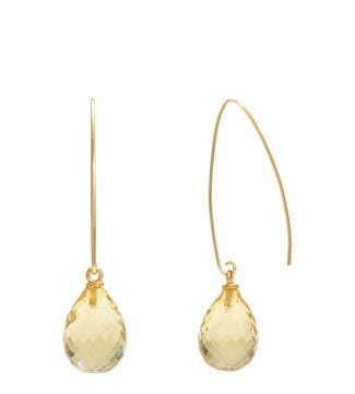 The Popsicle 18ct Gold Vermeil Dewdrop Earrings in lemon yellow | OSPREY LONDON