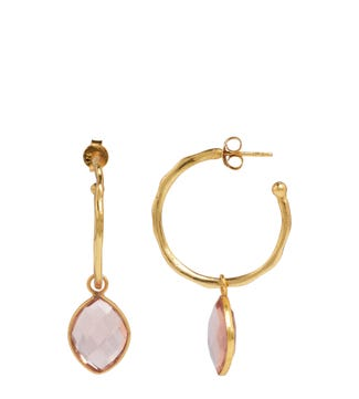 The Popsicle 18ct Gold Vermeil Hoop Earrings in apricot | OSPREY LONDON