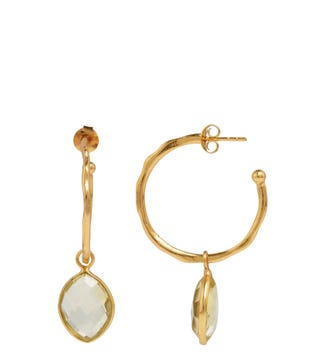 The Popsicle 18ct Gold Vermeil Hoop Earrings in lemon yellow | OSPREY LONDON
