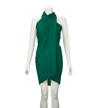 The Rainbow Cotton 3-in-1 Wrap in emerald