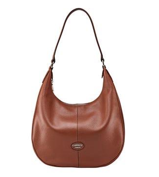 The Rita Leather Hobo in tan | OSPREY LONDON