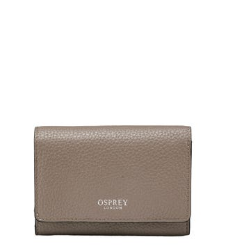 The Rita Leather Matinee Purse in mushroom | OSPREY LONDON