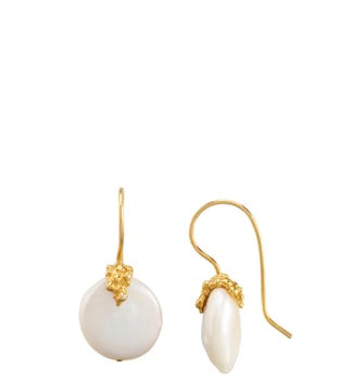 The Rococo Button Drop Earrings | OSPREY LONDON