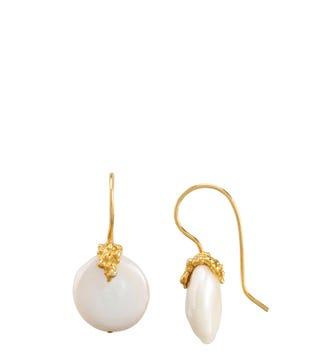 The Rococo Button Drop Earrings | OSPREY LONDON
