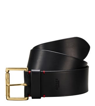 The Santiago 6cm Leather Belt in black | OSPREY LONDON