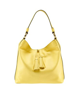 The Savanna Leather Hobo in citrus yellow | OSPREY LONDON