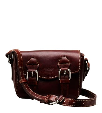 The Small Boxer Leather Satchel in cognac | OSPREY LONDON