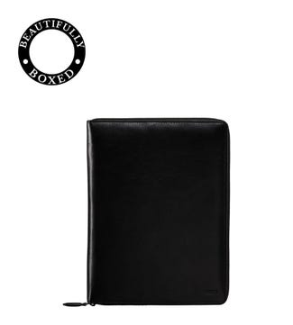 The Spencer A5 Leather Document Case in black | OSPREY LONDON
