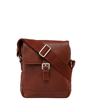 The Small Watson Leather Satchel in cognac | OSPREY LONDON