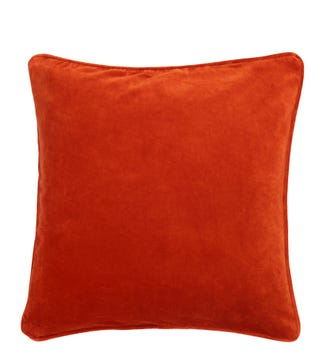 The Square Velvet Cushion red ochre| OSPREY LONDON