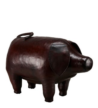 The Standard Leather Pig in mahogany brown | OSPREY LONDON