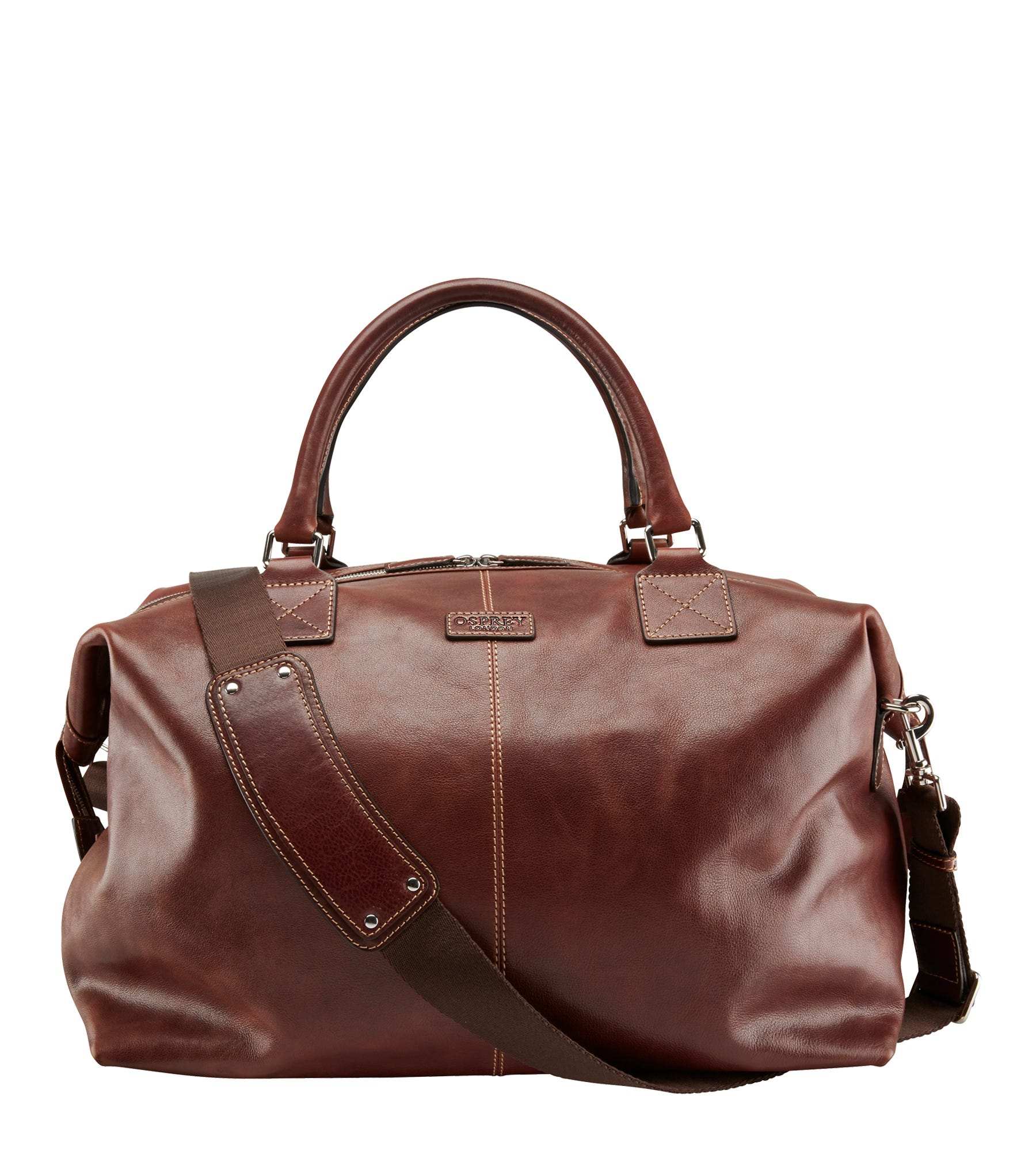 An image of The Stowaway Leather Holdall