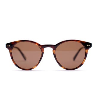 Reunion Sunglasses in forest brown | OSPREY LONDON