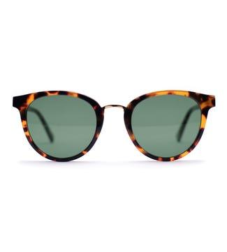Samoa Sunglasses in amber| OSPREY LONDON